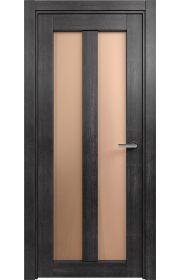Двери Статус 135 Дуб черный стекло Сатинато бронза