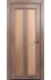 Двери Статус 135 Дуб капучино стекло Сатинато бронза
