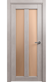 Двери Статус 135 Дуб серый стекло Сатинато бронза