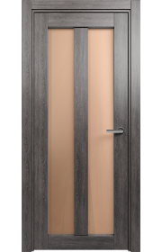 Двери Статус 135 Дуб патина стекло Сатинато бронза