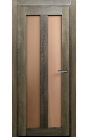 Двери Статус 135 Дуб винтаж стекло Сатинато бронза
