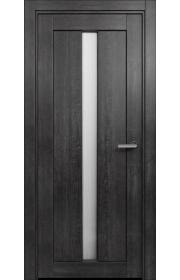 Двери Статус 134 Дуб черный стекло Канны