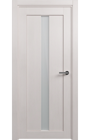 Двери Статус 134 Дуб белый стекло Сатинато белое