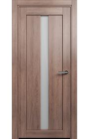 Двери Статус 134 Дуб капучино стекло Сатинато белое