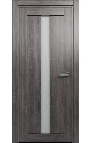Двери Статус 134 Дуб патина стекло Сатинато белое