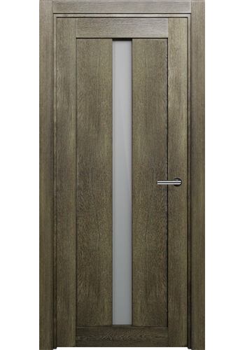 Двери Статус 134 Дуб винтаж стекло Сатинато белое