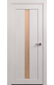 Двери Статус 134 Дуб белый стекло Сатинато бронза