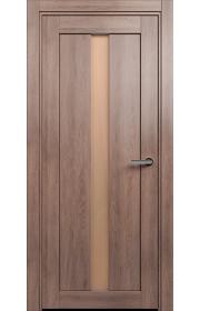 Двери Статус 134 Дуб капучино стекло Сатинато бронза