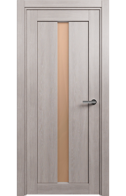 Двери Статус 134 Дуб серый стекло Сатинато бронза