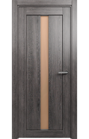 Двери Статус 134 Дуб патина стекло Сатинато бронза