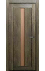 Двери Статус 134 Дуб винтаж стекло Сатинато бронза