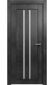 Двери Статус 133 Дуб черный стекло Канны
