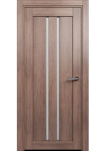 Двери Статус 133 Дуб капучино стекло Канны