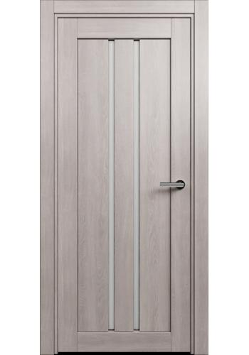 Двери Статус 133 Дуб серый стекло Канны