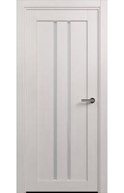 Двери Статус 133 Дуб белый стекло Сатинато белое