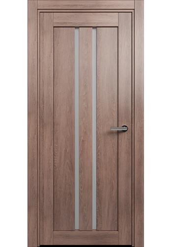 Двери Статус 133 Дуб капучино стекло Сатинато белое