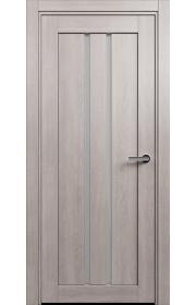 Двери Статус 133 Дуб серый стекло Сатинато белое
