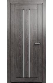 Двери Статус 133 Дуб патина стекло Сатинато белое
