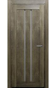 Двери Статус 133 Дуб винтаж стекло Сатинато белое