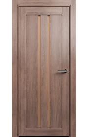 Двери Статус 133 Дуб капучино стекло Сатинато бронза