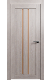 Двери Статус 133 Дуб серый стекло Сатинато бронза