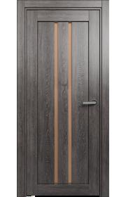 Двери Статус 133 Дуб патина стекло Сатинато бронза
