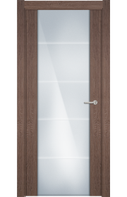 Двери Статус 222 Дуб капучино стекло с Алмазной гравировкой