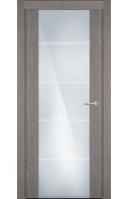 Двери Статус 222 Дуб серый стекло с Алмазной гравировкой