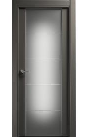 Двери Статус 222 Грей стекло с Алмазной гравировкой