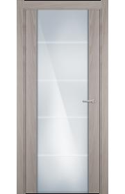 Двери Статус 222 Ясень стекло с Алмазной гравировкой