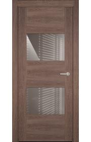 Двери Статус 221 Дуб капучино стекло Лакобель капучино