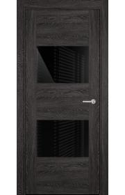 Двери Статус 221 Дуб патина стекло Лакобель черное