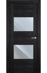 Двери Статус 221 Дуб черный стекло Зеркало