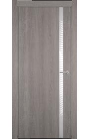 Двери Статус 321 Дуб серый стекло Лакобель белое