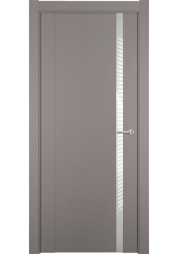 Двери Статус 321 Грей стекло Лакобель белое