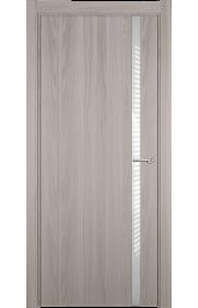 Двери Статус 321 Ясень стекло Лакобель белое