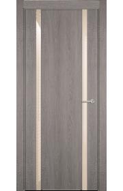 Двери Статус 322 Дуб серый стекло Лакобель бежевое
