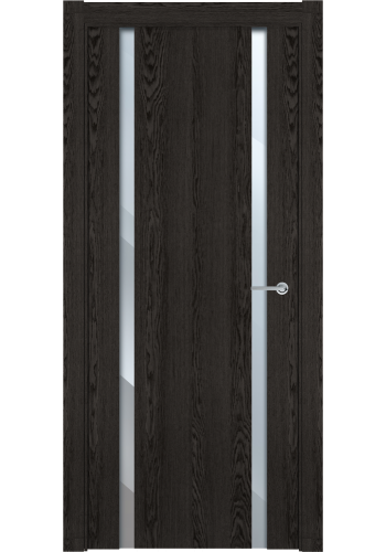 Двери Статус 322 Дуб патина стекло Лакобель бежевое