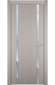 Двери Статус 322 Дуб белый стекло Зеркало