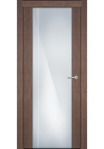 Двери Статус 331 Дуб капучино стекло с Вертикальной гравировкой