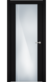 Двери Статус 331 Пепельный венге стекло с Вертикальной гравировкой