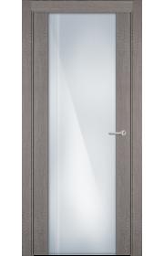 Двери Статус 331 Дуб серый стекло с Вертикальной гравировкой
