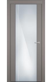 Двери Статус 331 Грей стекло с Вертикальной гравировкой