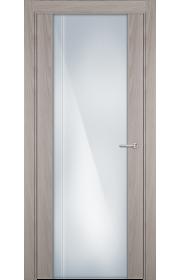 Двери Статус 331 Ясень стекло с Вертикальной гравировкой