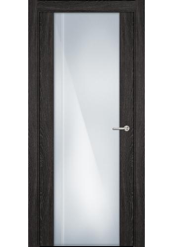 Двери Статус 331 Дуб патина стекло с Вертикальной гравировкой