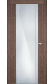 Двери Статус 332 Дуб капучино стекло с Вертикальной гравировкой