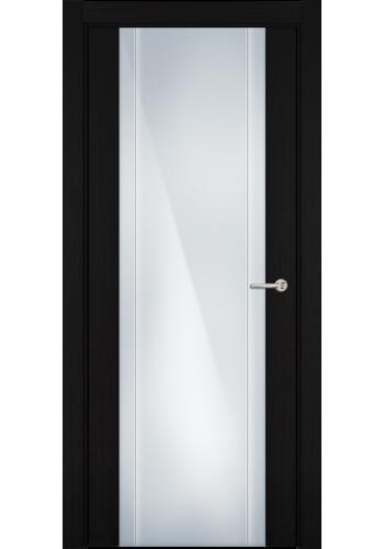 Двери Статус 332 Пепельный венге стекло с Вертикальной гравировкой