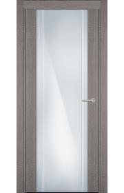 Двери Статус 332 Дуб серый стекло с Вертикальной гравировкой
