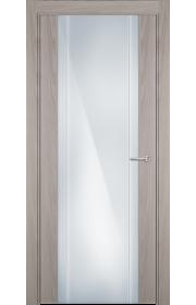 Двери Статус 332 Ясень стекло с Вертикальной гравировкой