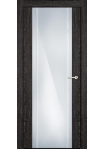 Двери Статус 332 Дуб патина стекло с Вертикальной гравировкой